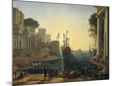 Ulysses Returning Chryseis to Her Father-Claude Lorraine-Mounted Giclee Print