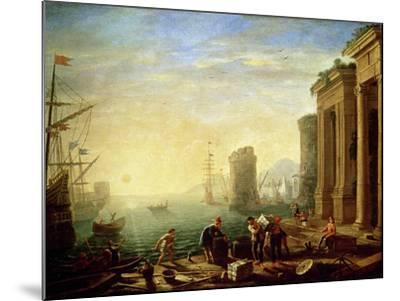 Morning at the Port, 1640-Claude Lorraine-Mounted Giclee Print