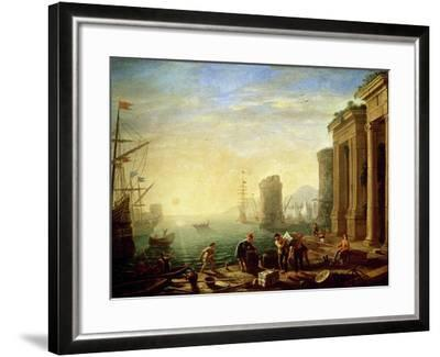 Morning at the Port, 1640-Claude Lorraine-Framed Giclee Print