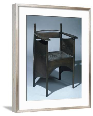 A Stained Oak Armchair for the Argyle Street Tea Rooms, Glasgow, 1896-Charles Rennie Mackintosh-Framed Giclee Print