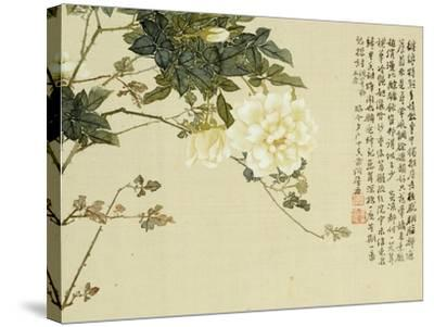 Flowers, from an Album of Ten Leaves-Ju Lian-Stretched Canvas Print