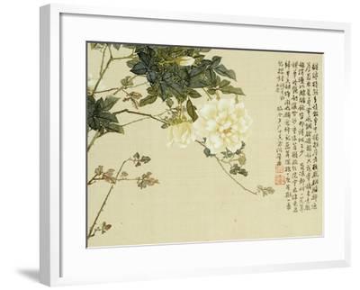 Flowers, from an Album of Ten Leaves-Ju Lian-Framed Giclee Print