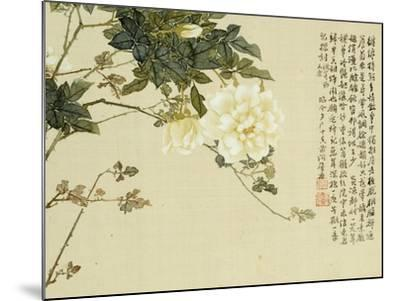 Flowers, from an Album of Ten Leaves-Ju Lian-Mounted Giclee Print