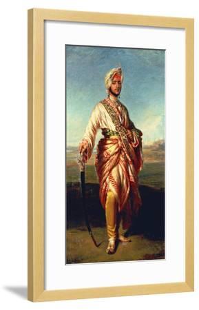 Portrait of the Maharajah Duleep Singh of Elveden, Standing Full Length, Wearing Maharajah's Robes-Janet Hawkins-Framed Giclee Print