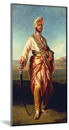 Portrait of the Maharajah Duleep Singh of Elveden, Standing Full Length, Wearing Maharajah's Robes-Janet Hawkins-Mounted Giclee Print