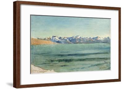 Sunrise over Mont Blanc-Ferdinand Hodler-Framed Giclee Print