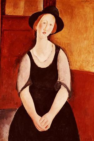 Portrait of Thora Klinckowstrom-Amedeo Modigliani-Stretched Canvas Print