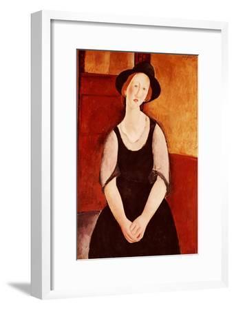 Portrait of Thora Klinckowstrom-Amedeo Modigliani-Framed Giclee Print