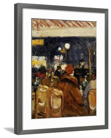 In the Cafe-Lesser Ury-Framed Giclee Print