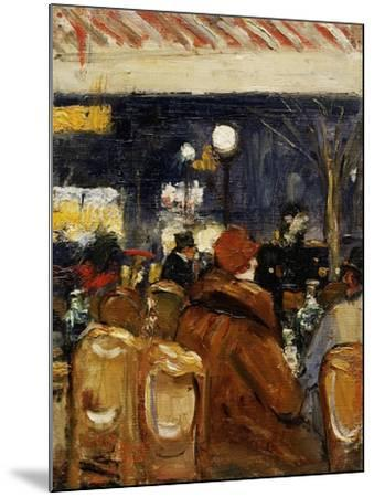 In the Cafe-Lesser Ury-Mounted Giclee Print