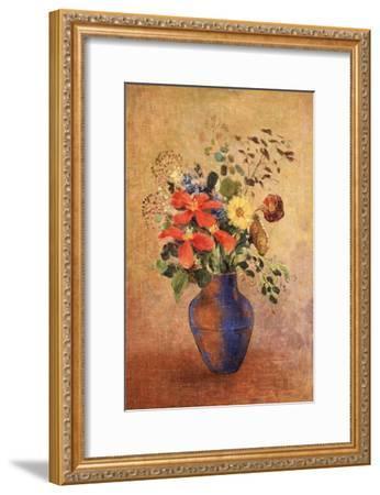 The Blue Vase-Odilon Redon-Framed Giclee Print