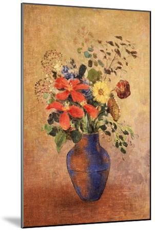 The Blue Vase-Odilon Redon-Mounted Giclee Print
