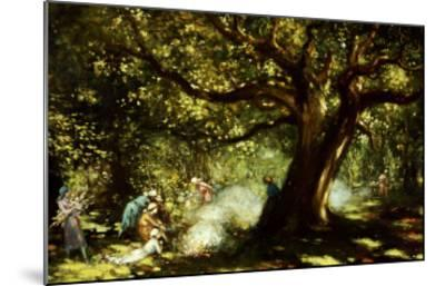 The Big Oak, Raheen, Co. Galway-George Russell-Mounted Giclee Print