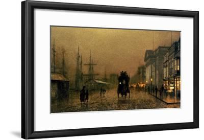 Liverpool Docks-John Atkinson Grimshaw-Framed Giclee Print