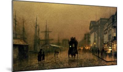 Liverpool Docks-John Atkinson Grimshaw-Mounted Giclee Print