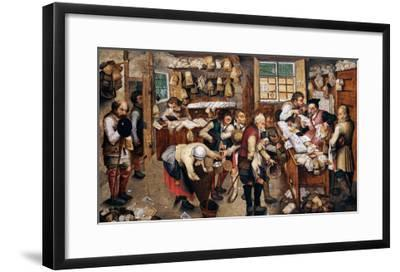 Peasants Paying Tithes-Pieter Bruegel the Elder-Framed Giclee Print