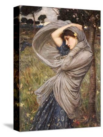 Boreas-John William Waterhouse-Stretched Canvas Print