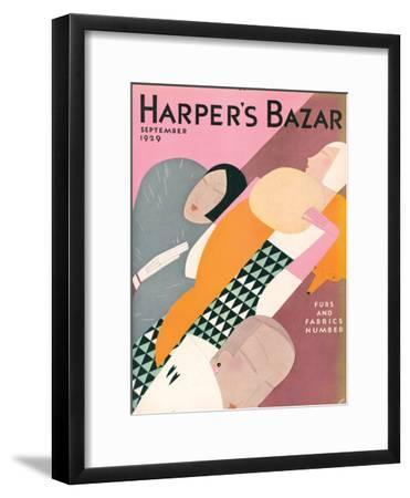Harper's Bazaar, September 1929--Framed Art Print