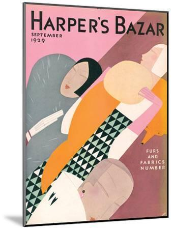 Harper's Bazaar, September 1929--Mounted Art Print