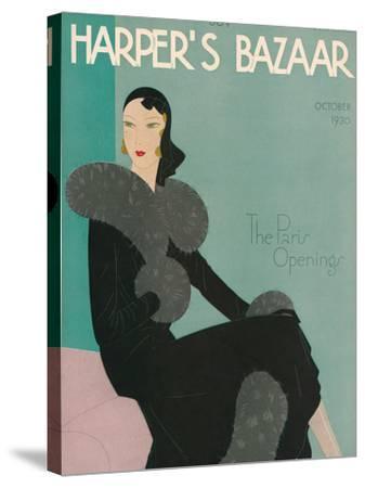 Harper's Bazaar, October 1930--Stretched Canvas Print