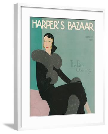 Harper's Bazaar, October 1930--Framed Premium Giclee Print