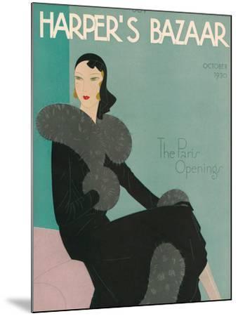 Harper's Bazaar, October 1930--Mounted Premium Giclee Print