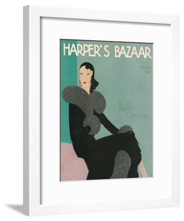Harper's Bazaar, October 1930--Framed Art Print