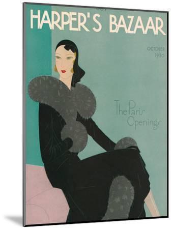Harper's Bazaar, October 1930--Mounted Art Print