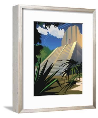 A Mayan Temple in Mexico--Framed Art Print