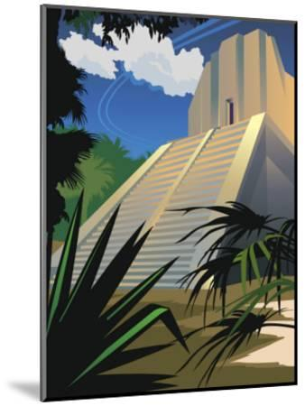 A Mayan Temple in Mexico--Mounted Art Print