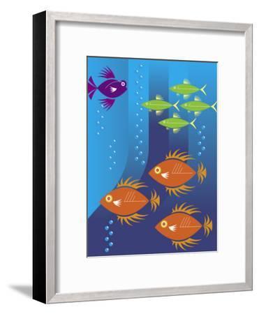 School of Fish--Framed Art Print