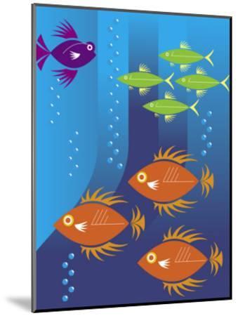 School of Fish--Mounted Art Print