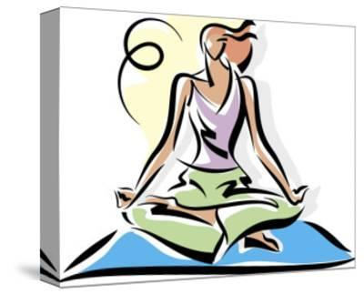 A Woman Meditating--Stretched Canvas Print