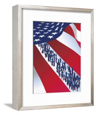 Texture, Immigration, Grouped Elements--Framed Art Print