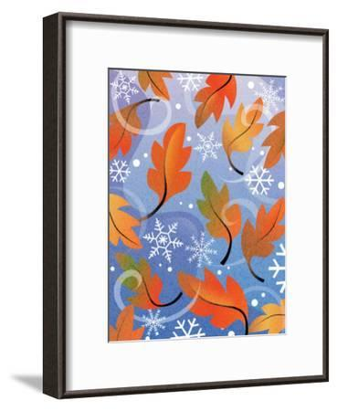 Texture, Autumn Turning to Winter--Framed Art Print