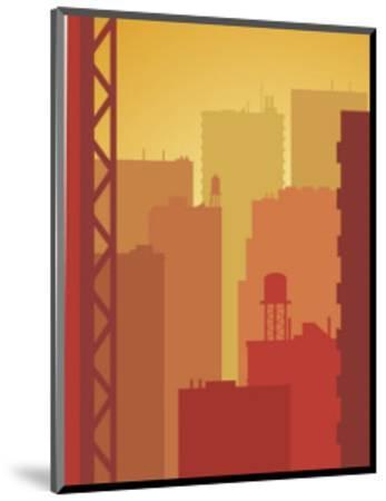 Texture, City Skyline--Mounted Art Print