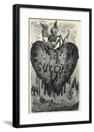 The Demonic Entity of the Succubus Portrayed as a Skeleton on a Bleeding Heart-Gustave Dor?-Framed Giclee Print