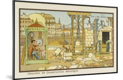 An Automated Building-Site-Jean Marc Cote-Mounted Giclee Print