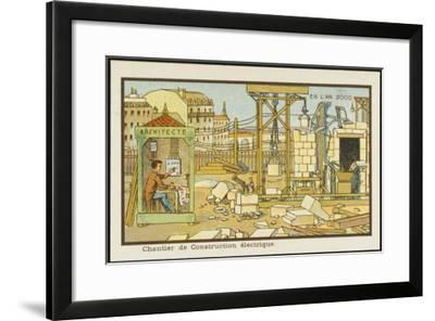An Automated Building-Site-Jean Marc Cote-Framed Giclee Print