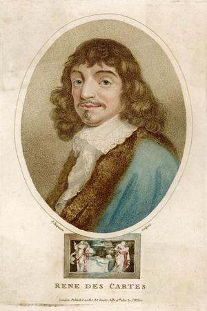 Rene Descartes French Mathematician and Philosopher-J^ Chapman-Stretched Canvas Print
