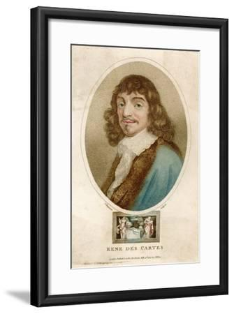 Rene Descartes French Mathematician and Philosopher-J^ Chapman-Framed Giclee Print