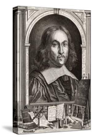 Pierre De Fermat French Mathematician-Louis Figuier-Stretched Canvas Print