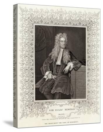 Sir Isaac Newton Mathematician Physicist Occultist--Stretched Canvas Print