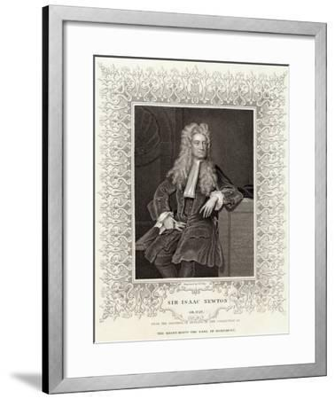 Sir Isaac Newton Mathematician Physicist Occultist--Framed Giclee Print