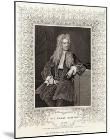 Sir Isaac Newton Mathematician Physicist Occultist--Mounted Giclee Print