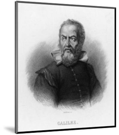 Galileo Galilei Italian Astronomer- Audibran-Mounted Premium Giclee Print