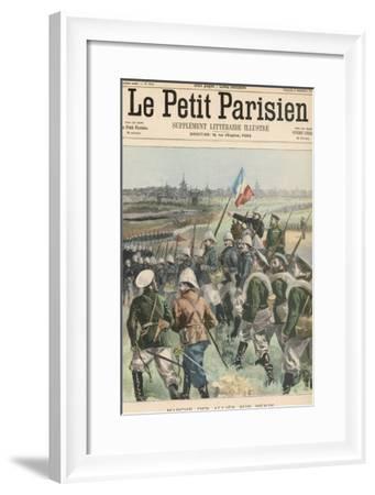 Boxer Rebellion the Allies Advance on Peking- Carrey-Framed Giclee Print