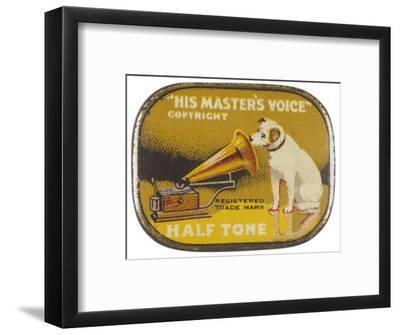 His Master's Voice: The Hmv Dog Listens Eternally- Design-Framed Giclee Print
