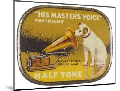 His Master's Voice: The Hmv Dog Listens Eternally- Design-Mounted Giclee Print