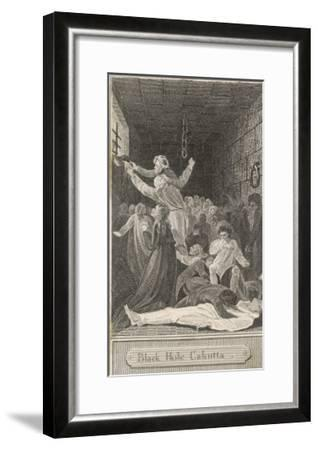 The Black Hole of Calcutta in Which Only 23 of 146 Prisoners are Said to Have Survived-W^ Bromley-Framed Giclee Print